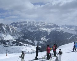 Val Gardena, Italy, Top of a slope