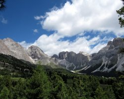 Val Gardena, Italy, Valley view