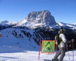 Val Gardena, Italy, Slope overlook
