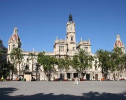 Valencia, Spain, Front view of the City Hall