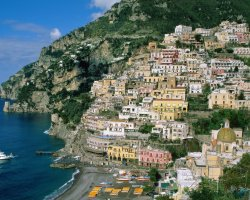 Valentines Day Holiday, Amalfi Coast, Italy, City panorama