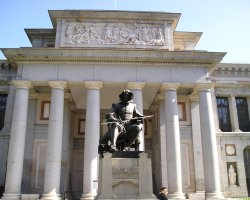Valuable Monuments, Madrid, Spain, Prado Museum entrance facade