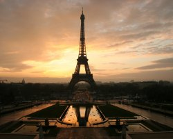 Valuable Monuments, Paris, France, Eiffel Tower at dawn
