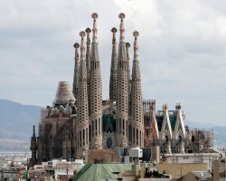 Valuable Monuments, Barcelona, Spain, Sagrada Familia overview