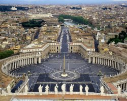 Vatican City, Europe, Central piazza aerial view