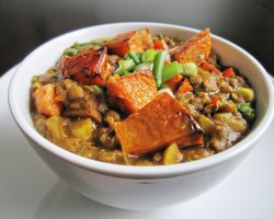 Vegetarian Tourists Destinations, Curried Lentils