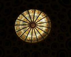 Vicenza, Italy, Villa Rotonda section dome stained glass