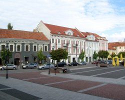 Vilnius, Lithuania, Europe, City square