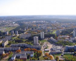 Vilnius, Lithuania, Europe, Aerial view
