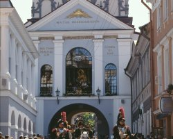 Vilnius, Lithuania, Europe, Down gate on parade day