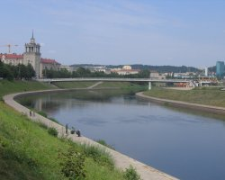 Vilnius, Lithuania, Europe, Neris river