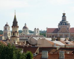 Vilnius, Lithuania, Europe, Rooftops