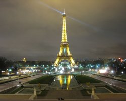 Visiting the Tower, Paris, France, Eiffel Tower lit up