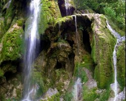 Waterfall Holiday, Romania, Europe, Beusnita Waterfall view from bellow