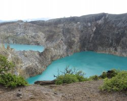 Nature Weirdness, Flores Island, Indonesia, Crate Lake Kelimutu overview