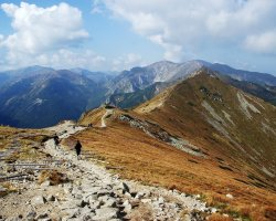 Tatra Mountains, Europe, Hiking on autumn
