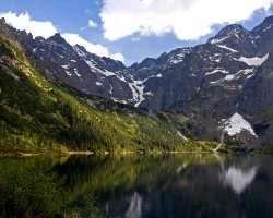 Tatra Mountains, Europe, Glacial lake view