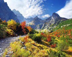 Tatra Mountains, Europe, Beautifulo autumn sightview