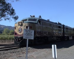 Napa and Sonoma Valleys, California, USA, Wine train