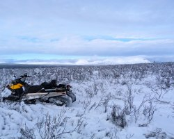 Safe Winter Holiday, Snowmobile