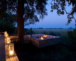 World Best Hotels, Botswana, Africa, Vumbura Plains outside lounge area