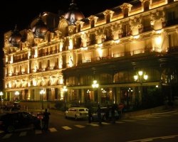 World Best Hotels, Monte Carlo, Monaco, Hotel de Paris by night