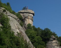 World Holiday, North Carolina, USA, Chimney Rock view from bellow