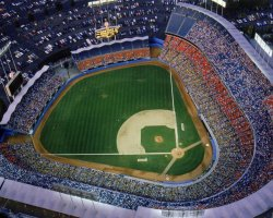 World Holiday, Los Angeles, USA, Dodger Stadium top view