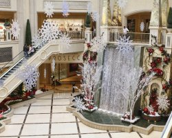 World Largest Hotels, Palazzo Megacenter, Las Vegas, Nevada, USA, Winter decor