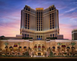 World Largest Hotels, Palazzo Megacenter, Las Vegas, Nevada, USA, Front view at dawn