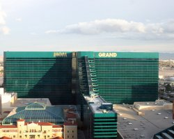 World Largest Hotels, MGM Grand, Las Vegas, Nevada, USA, Aerial View