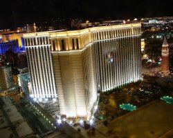 World Largest Hotels, Palazzo Megacenter, Las Vegas, Nevada, USA, Aerial view