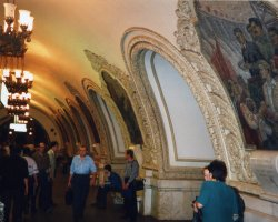World Subways, Moscow, Russia, Subway station paintings
