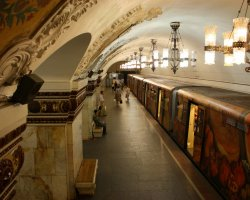 World Subways, Moscow, Russia, Subway station train