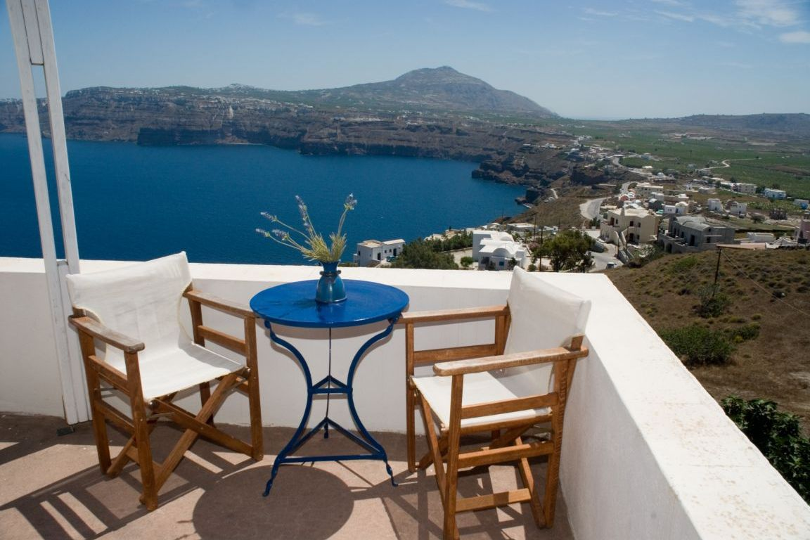 Valentines Day Holiday, Santorini, Greece, Private balcony