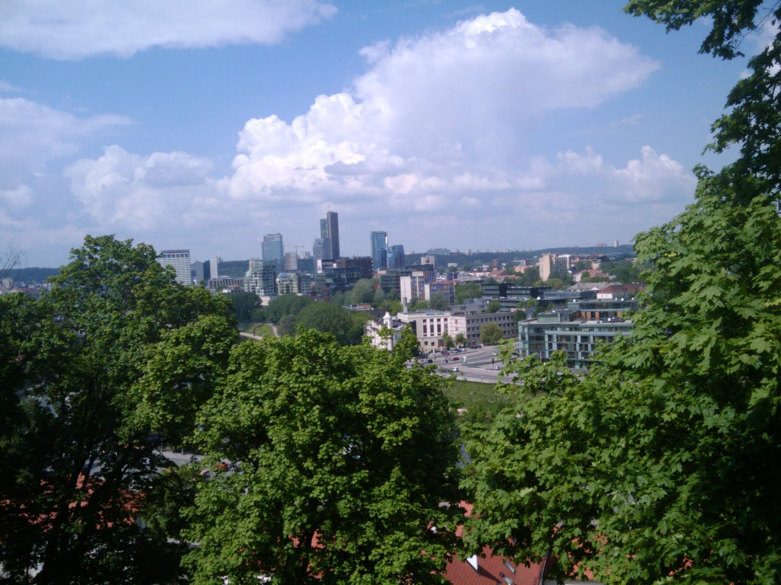 Vilnius, Lithuania, Europe, View of downtown