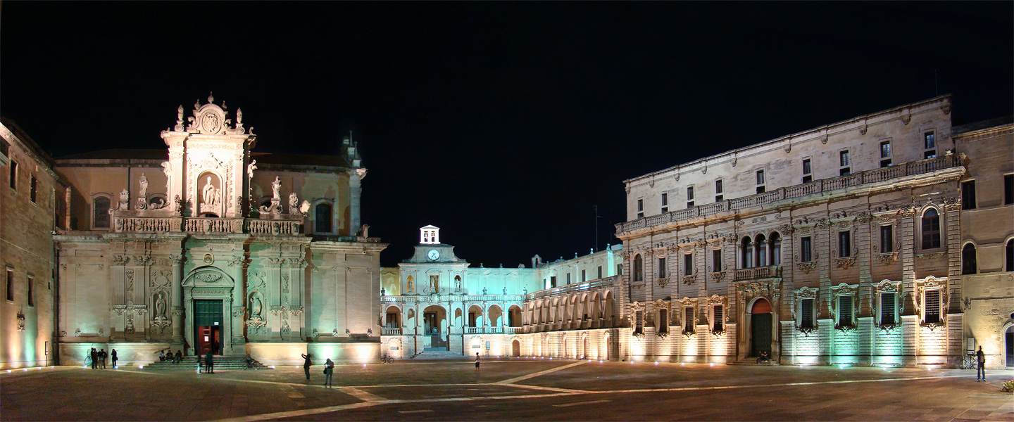 Great places, Lecce, Apulia, Italy, Puglia by night