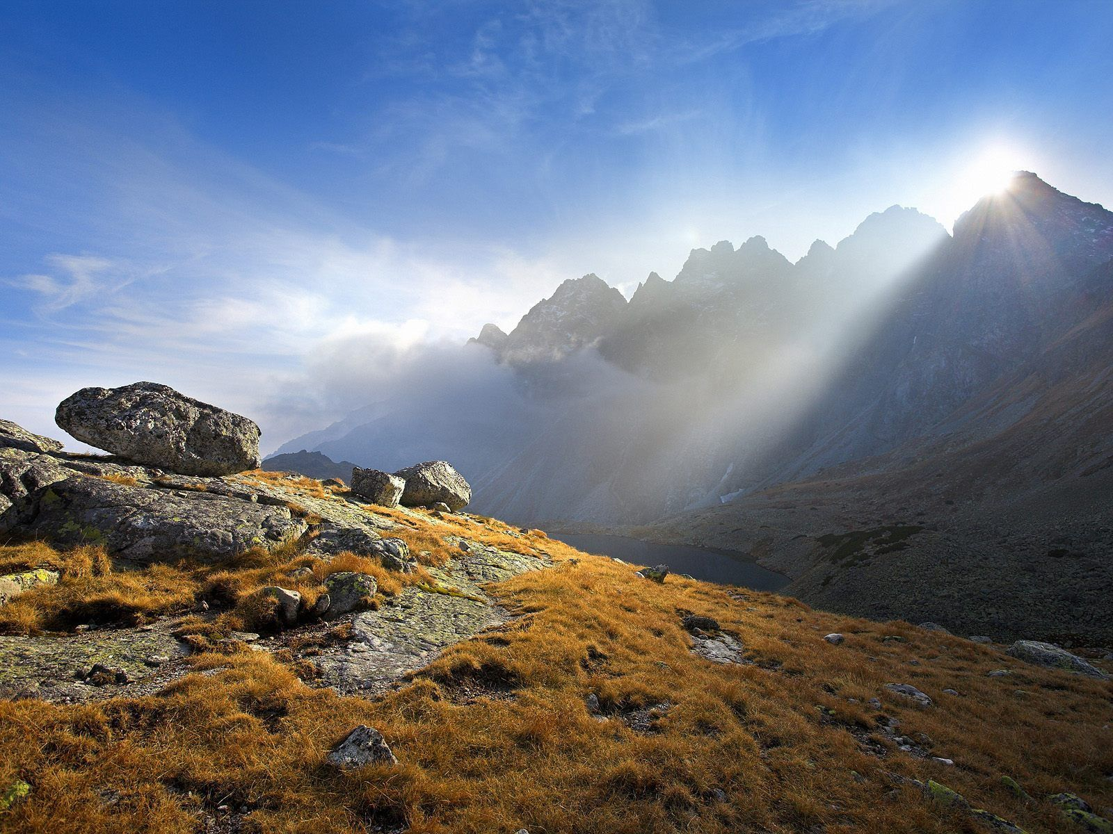 Tatra Mountains, Europe, Sun rising