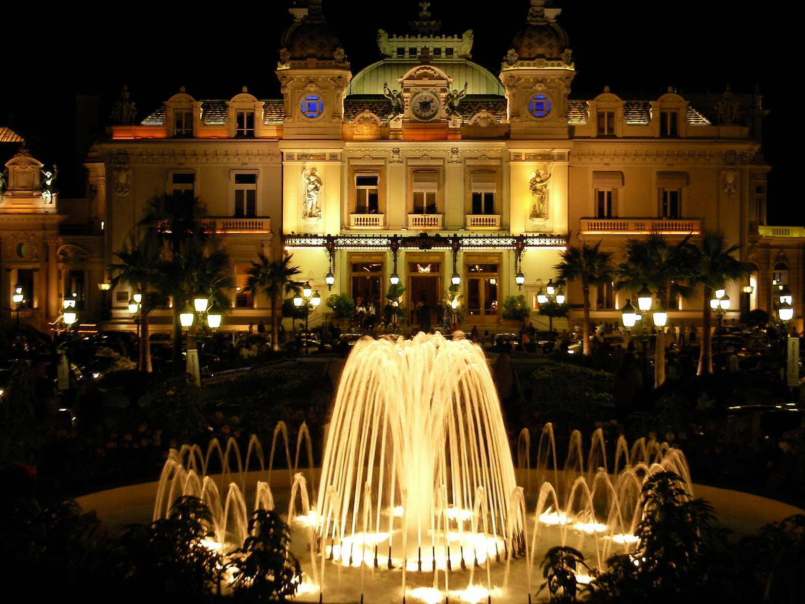 World Best Hotels Monte Carlo Monaco Hotel De Paris Front View By Night