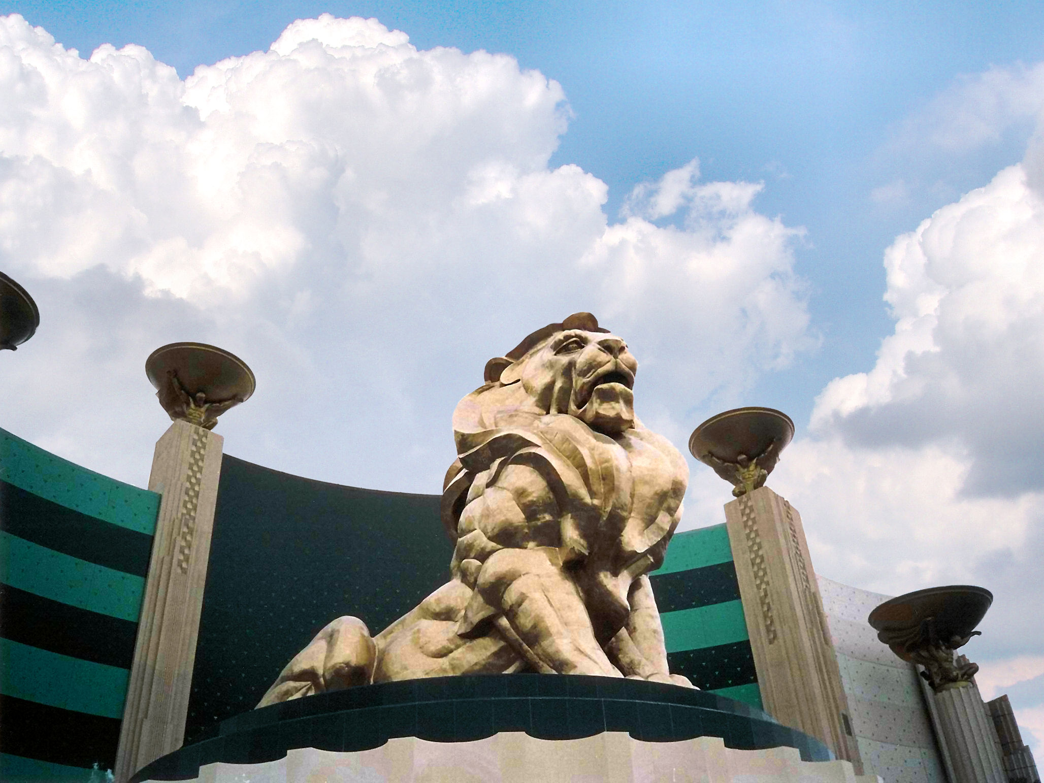 World Largest Hotels, MGM Grand, Las Vegas, Nevada, USA, Front lion statue