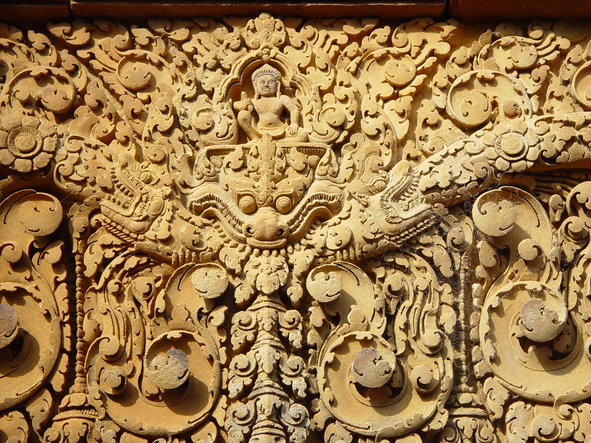 Indra, Hindu God riding Makara Angkor Complex,jpg