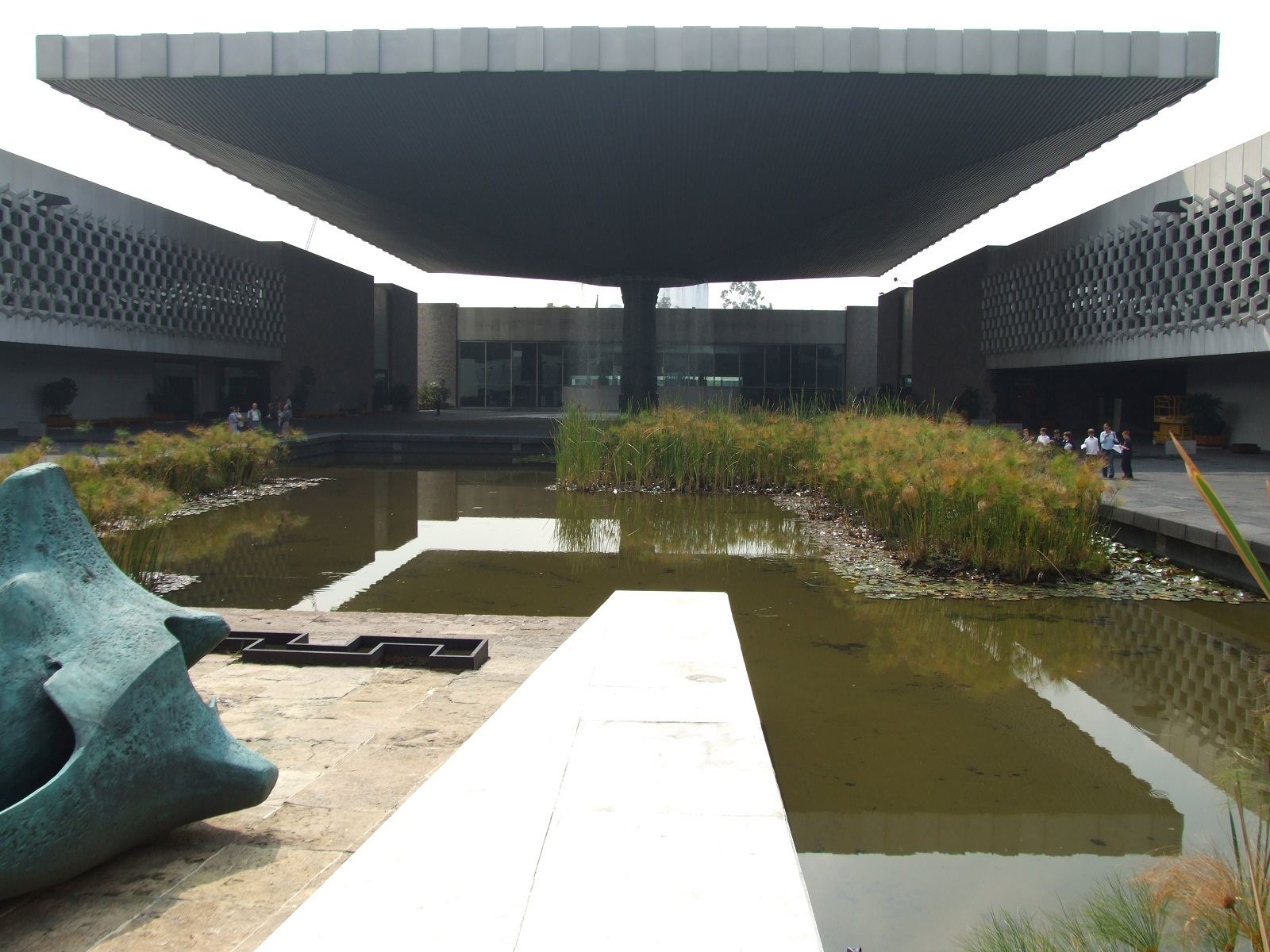 National Museum of Anthropology, Mexico City, Outside courtyard