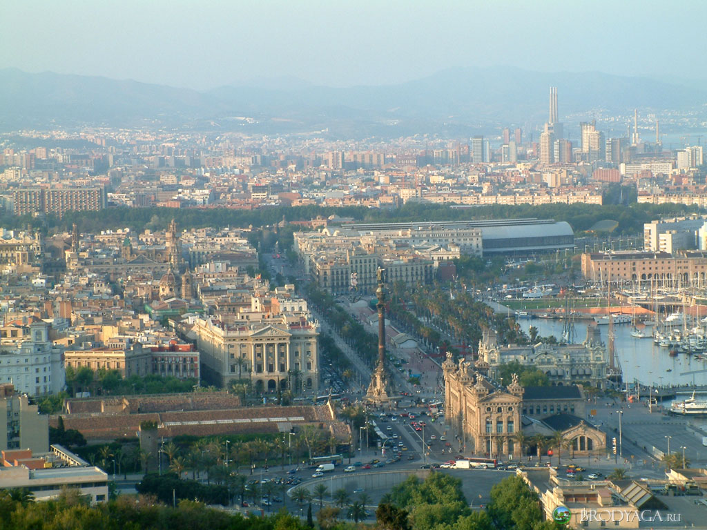 Barcelona Architecture, Spain, View from above