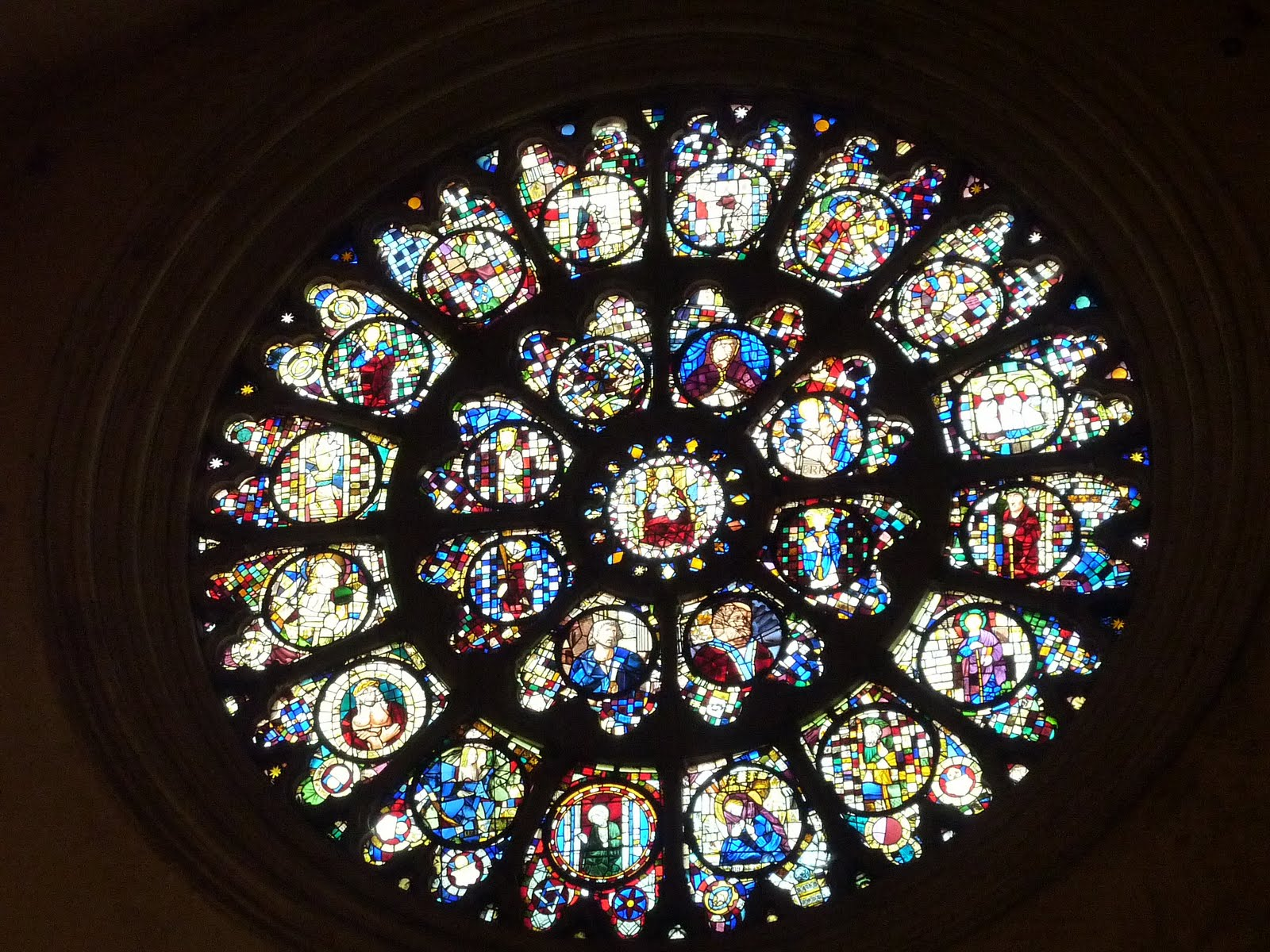 Basilique Saint Sernin, Toulouse, France, Staind glass window