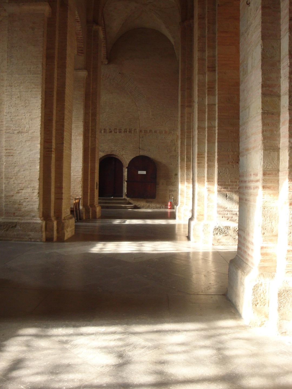Basilique Saint Sernin Toulouse France Interior corridor ...