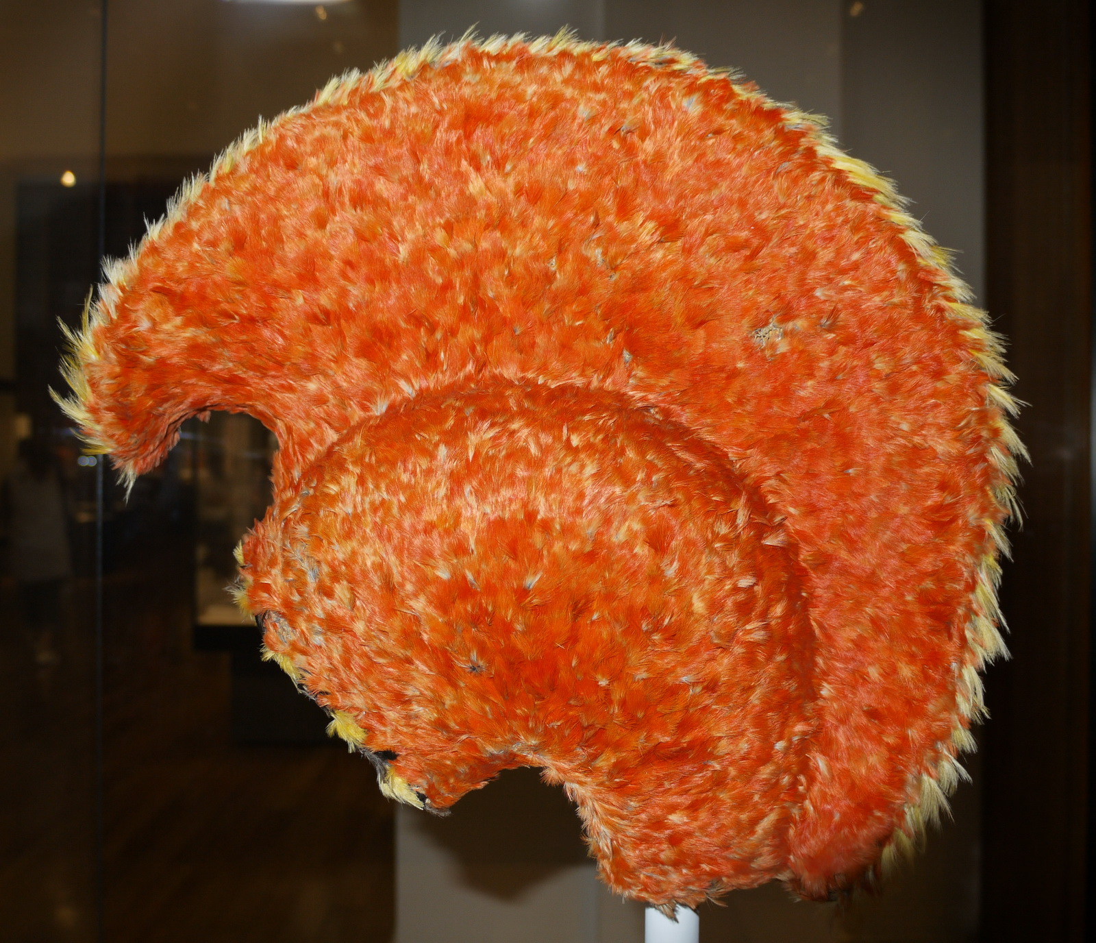 British Museum, London, England, Hawaiian feather helmet
