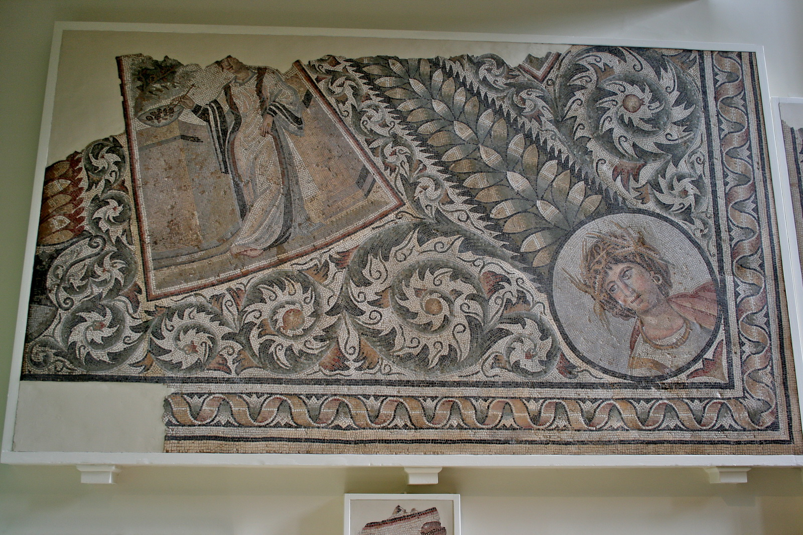 British Museum, London, England, North African mosaic