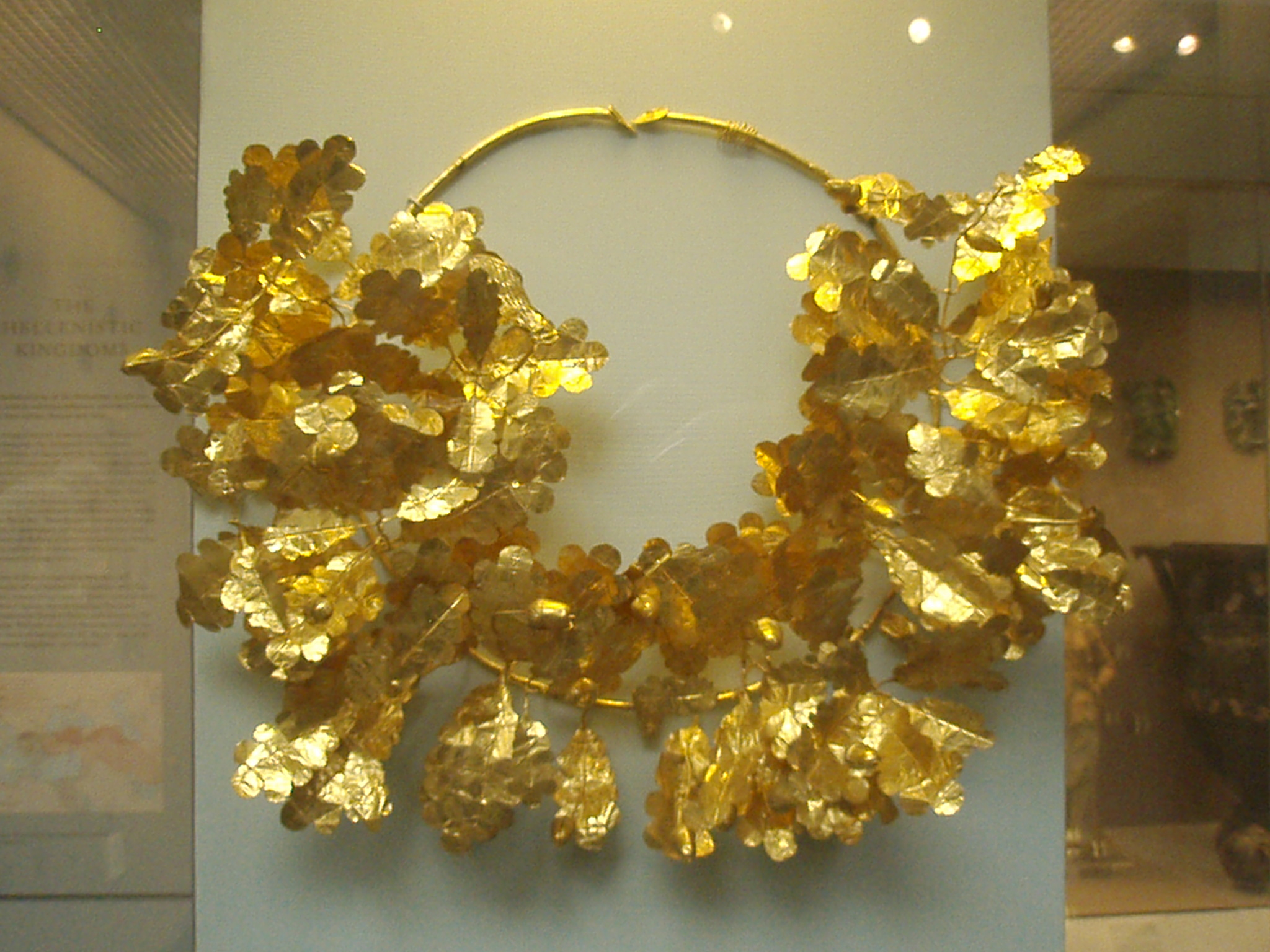 British Museum, London, England, Greek Gold Laurels