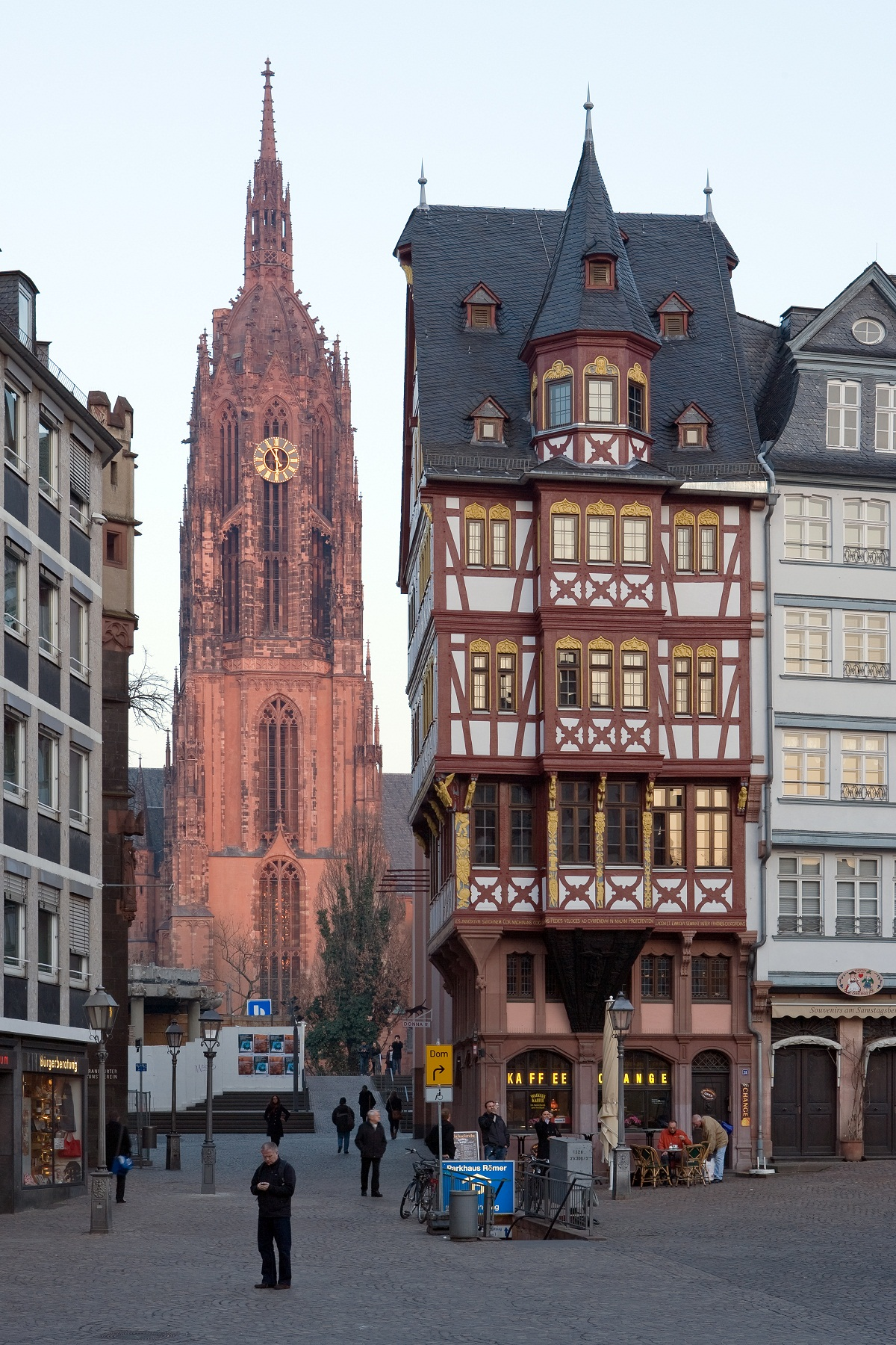Frankfurt Architecture, Germany, View from Main Roemerberg