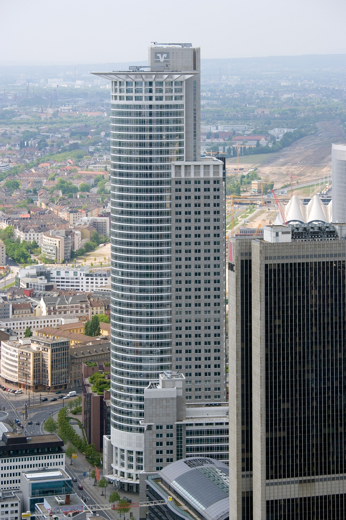 Frankfurt Architecture, Germany, Westend tower view from Maintower